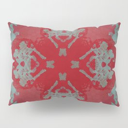 Red Ornament Abstract Design Pillow Sham
