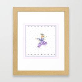 A Roly Poly Rumpus Framed Art Print