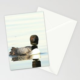 Loon reflection Stationery Cards
