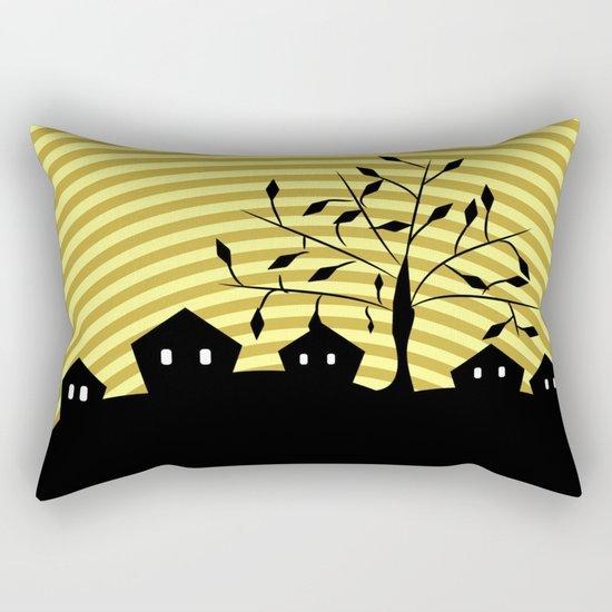 Quiet village at night Rectangular Pillow