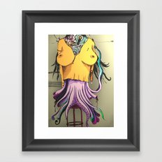 OCTOPUS WOMAN Framed Art Print