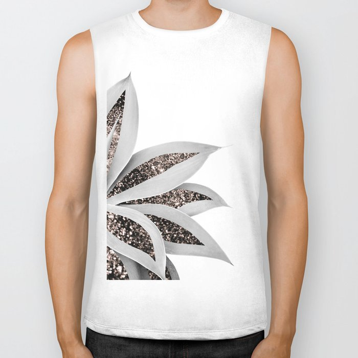 Agave Finesse Glitter Glam #1 #tropical #decor #art #society6 Biker Tank