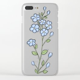 Forget Me Nots Clear iPhone Case
