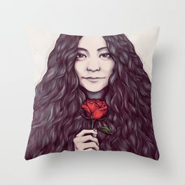 Yoko Ono Throw Pillow