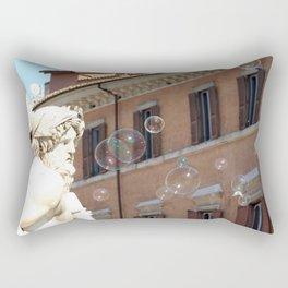 Bernini's Four Rivers Fountain Rectangular Pillow