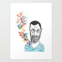 matisse Art Prints featuring Matisse by Le Hello