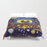 spaceship Duvet Covers featuring Spaceship!  by Brieana
