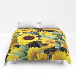 Happy Sunflowers Comforters
