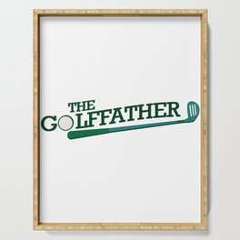 Golf Dad Funny Fathers Day Gift Serving Tray