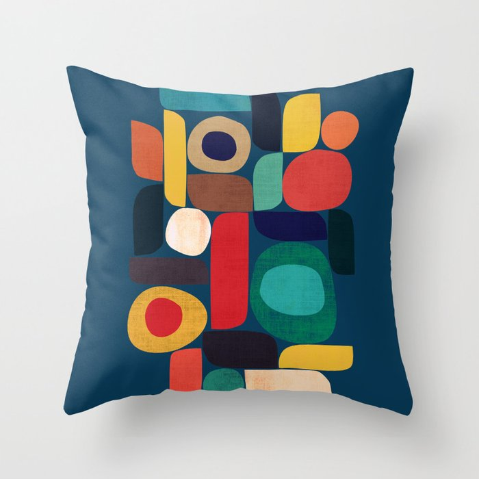 Miles and miles Throw Pillow