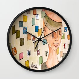 Don´t clutter your head Wall Clock