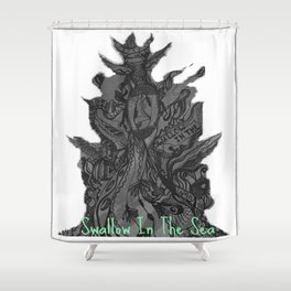 Swallow In The Sea Shower Curtain