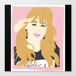 Knock Knock! Jihyo Pink Canvas Print
