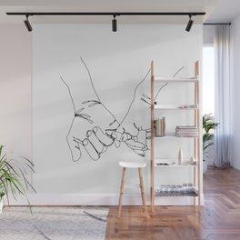 Pinky Swear Hands Wall Mural