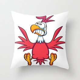 Chicken Scared Throw Pillow