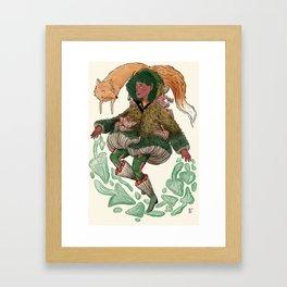 Fungi Witch Framed Art Print
