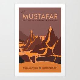 Visit Mustafar Art Print