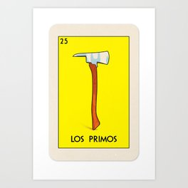 BB Loteria Card No.25 - The Cousins Art Print