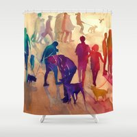 best friends Shower Curtains featuring Best friends by takmaj