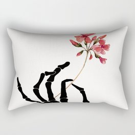 Skeleton Hand with Flower Rectangular Pillow