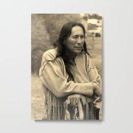 Cheyenne Warrior Metal Print