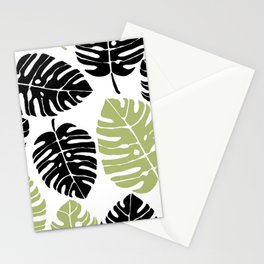 palm leaves black and Stationery Cards