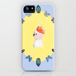 Cockatoo with Beetle Accents iPhone Case