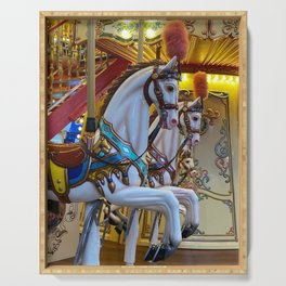 Vintage Carousel Horse Serving Tray