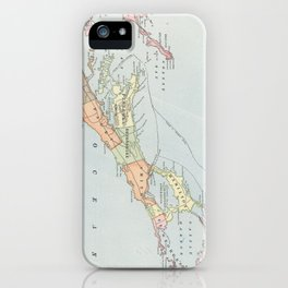 Vintage Map of Bermuda (1901) iPhone Case