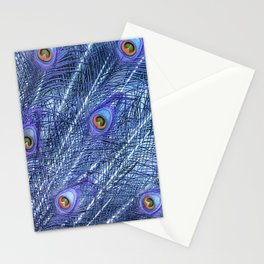 Purple Peacock Feathers Stationery Cards