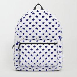 Large Australian Flag Blue Stars on White Backpack