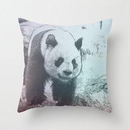 Sketchy Panda Throw Pillow