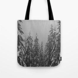 Snow Trees Tote Bag