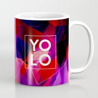 sayings Mugs featuring Dreams of YOLO Vol.2 by HappyMelvin