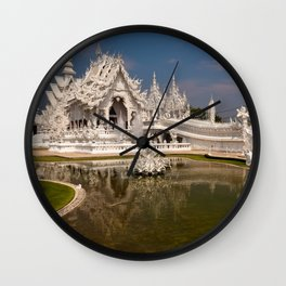 White Temple Wall Clock