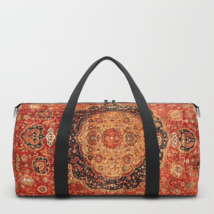 Seley 16th Century Antique Persian Carpet Print Duffle Bag