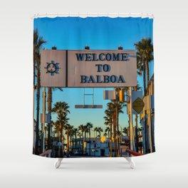 Welcome to Balboa Fun Zone Shower Curtain