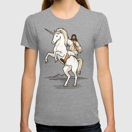 Jesus Riding Unicorn T-shirt