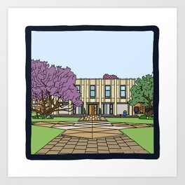 Cambridge struggles: Wolfson college Art Print