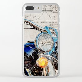 FLSTN Softail Deluxe Clear iPhone Case