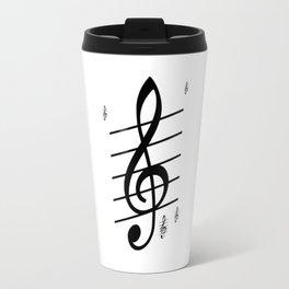 der Schlüssel zum Herz ist die Melodie   (A7 B0022) Travel Mug