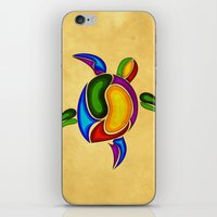 turtle iPhone & iPod Skins featuring Turtle by Aleksandra Mikolajczak