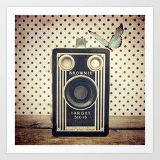 Vintage Camera Love: Kodak Brownie Target Six-16! Art Print