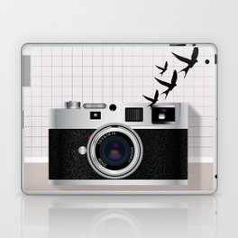 vintage camera and birds Laptop & iPad Skin