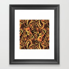 Ethnic pattern. Brown ornament Framed Art Print