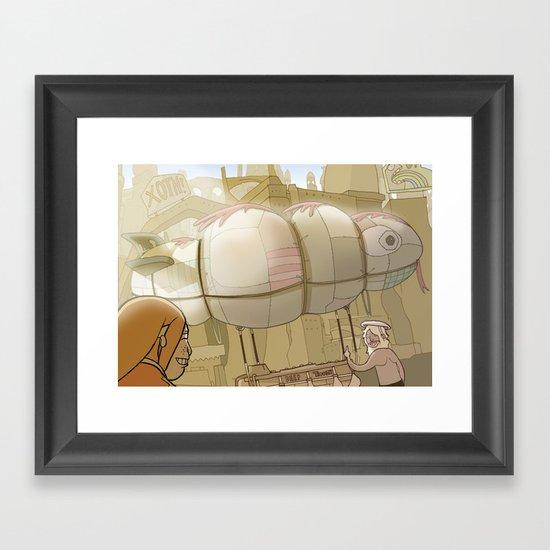 On the Road 7: Zeppelin! Framed Art Print