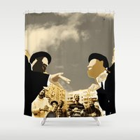 theatre Shower Curtains featuring Orthodox Street Theatre by Design4u Studio