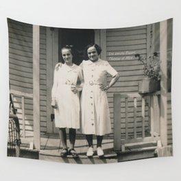 Les soeurs Bisson, Thérèse et Alice - The sisters Bisson, Therese et Alice Wall Tapestry