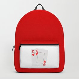 Two Hearts blank playing cards Backpack