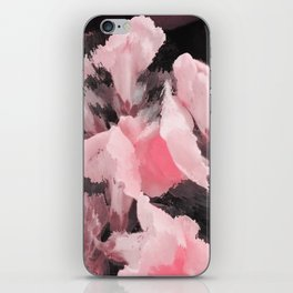 Light Pink Snapdragons Abstract Flowers iPhone Skin